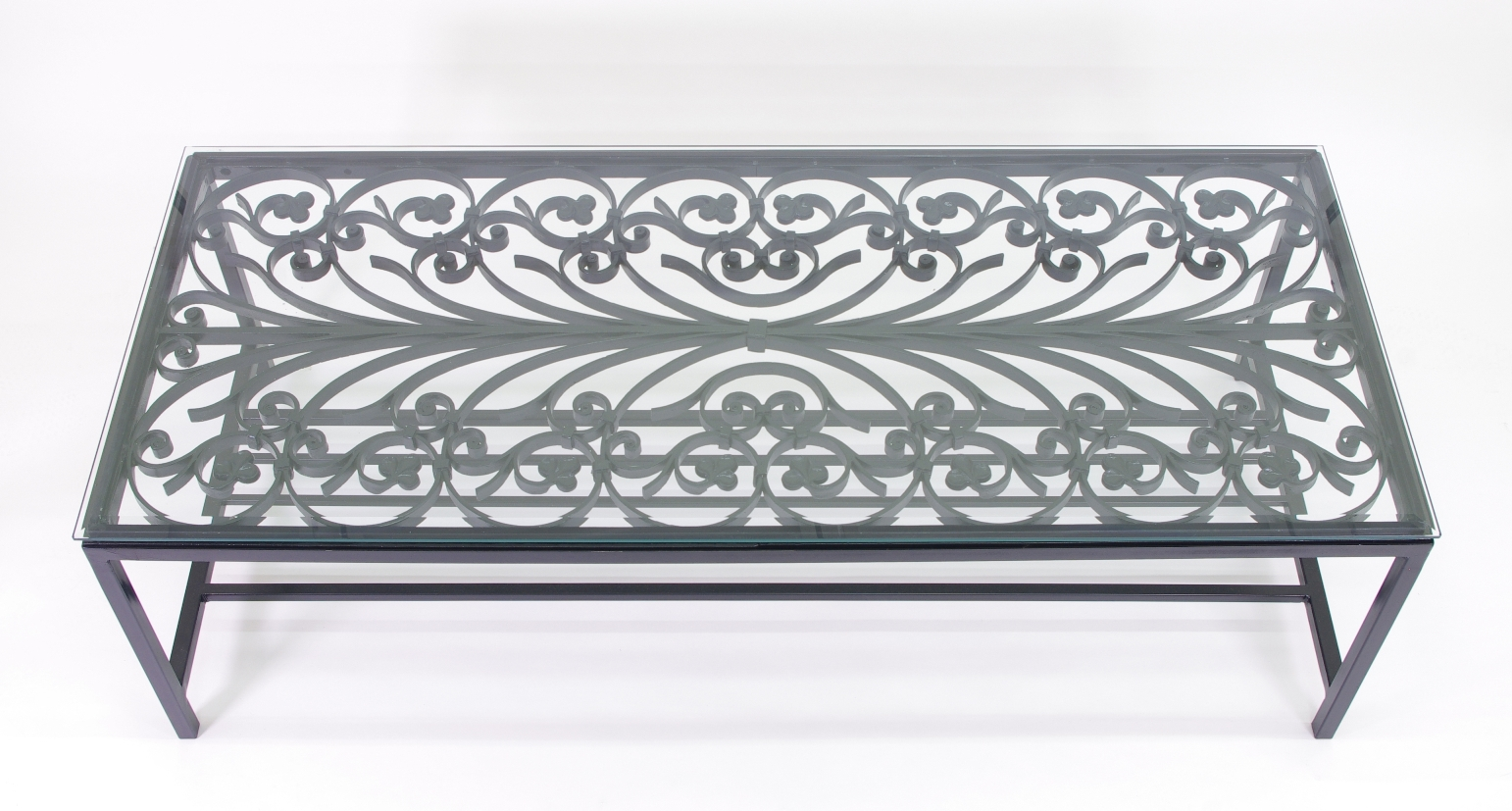 View 7: French Wrought Iron Window Guard Mounted as a Coffee Table, Mid 19th c.