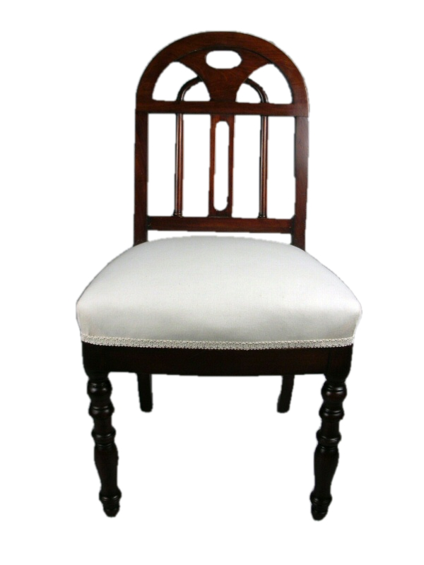 Empire mahogany side chair