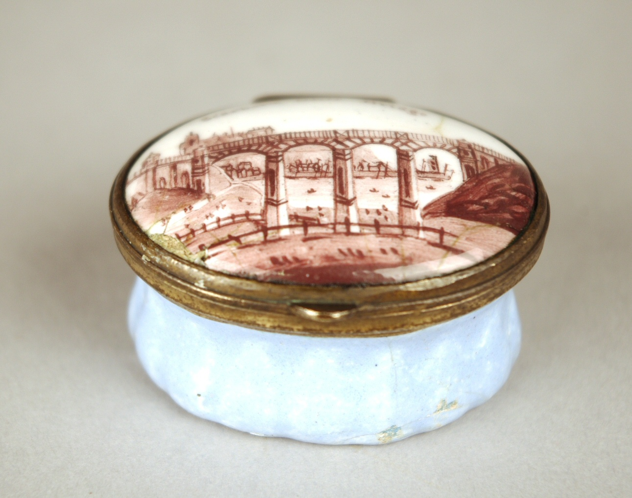 "View 2: Enamel Patch Box ""Scarboro Cliff Bridge"""
