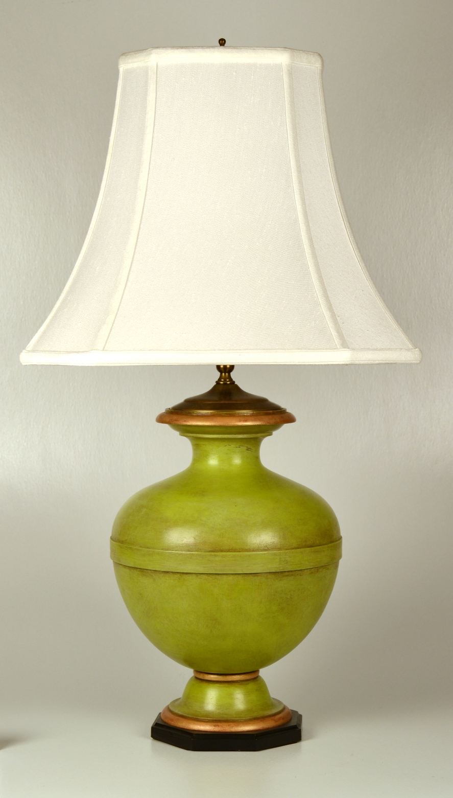 View 3: Turned and Painted Urn Shaped Lamp