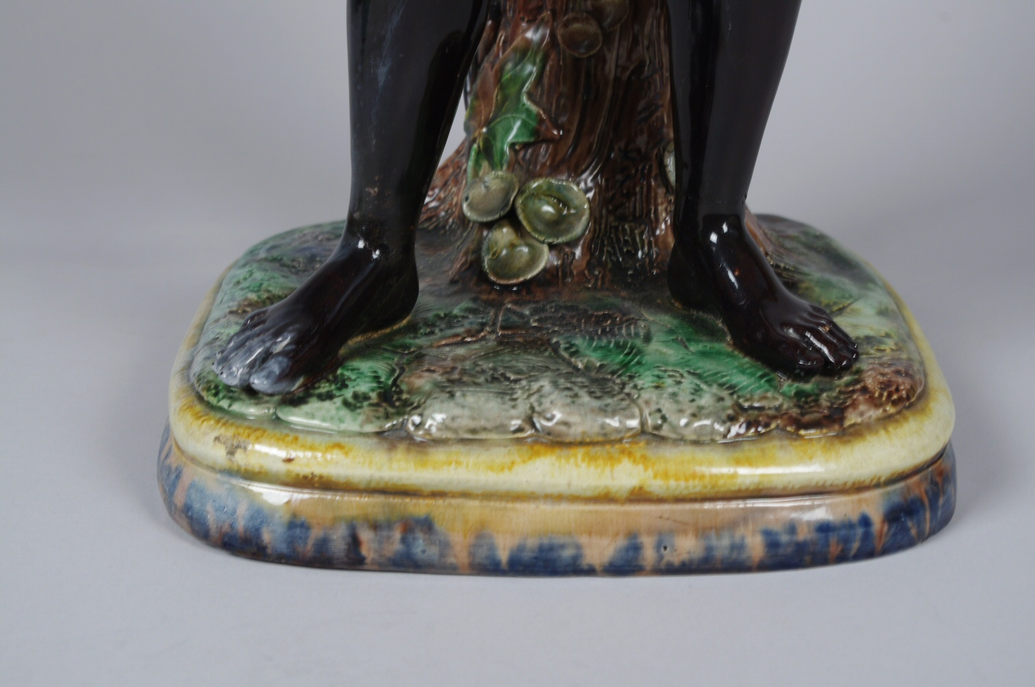 View 8: Pair of Majolica Blackamoor Jardinieres