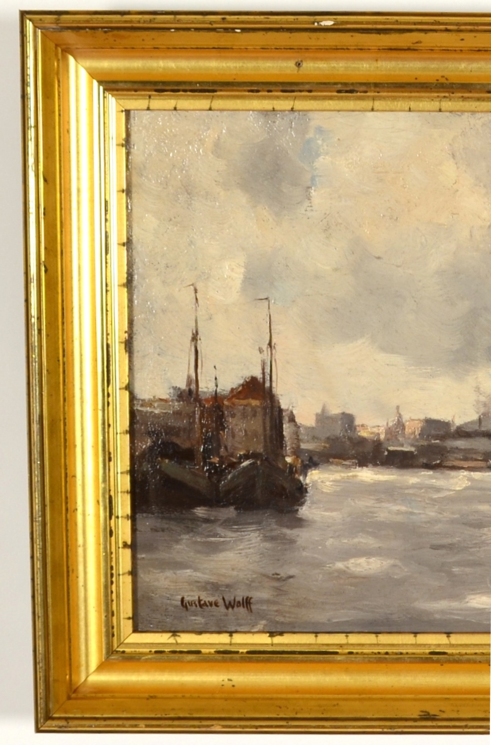 "View 6: Gustave Wolff (1863-1935) ""Docks at Battery Park"""