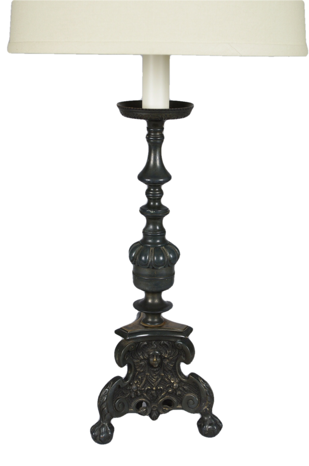 Baroque Style Brass Candlestick Lamp