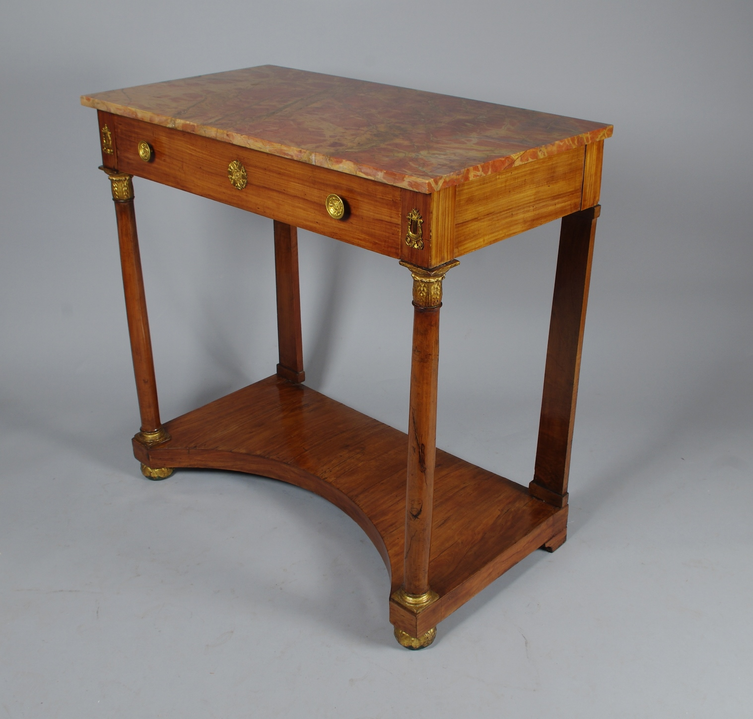 View 2: Italian Empire Cherrywood Console Table
