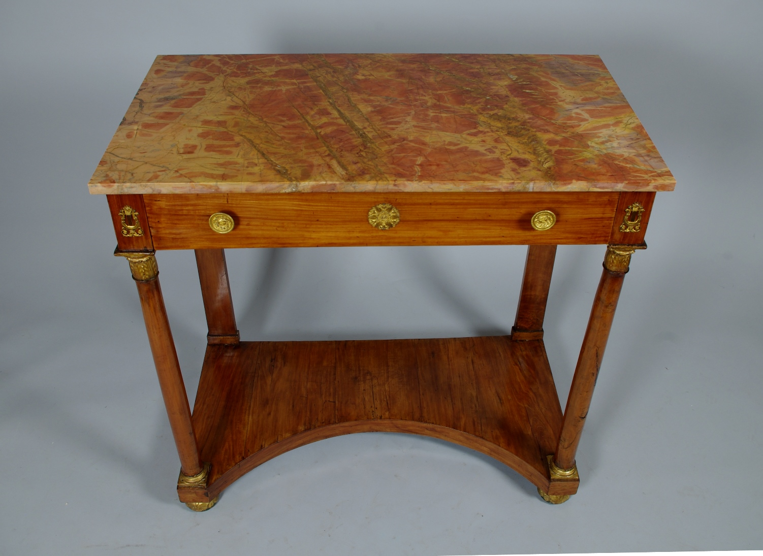 View 3: Italian Empire Cherrywood Console Table