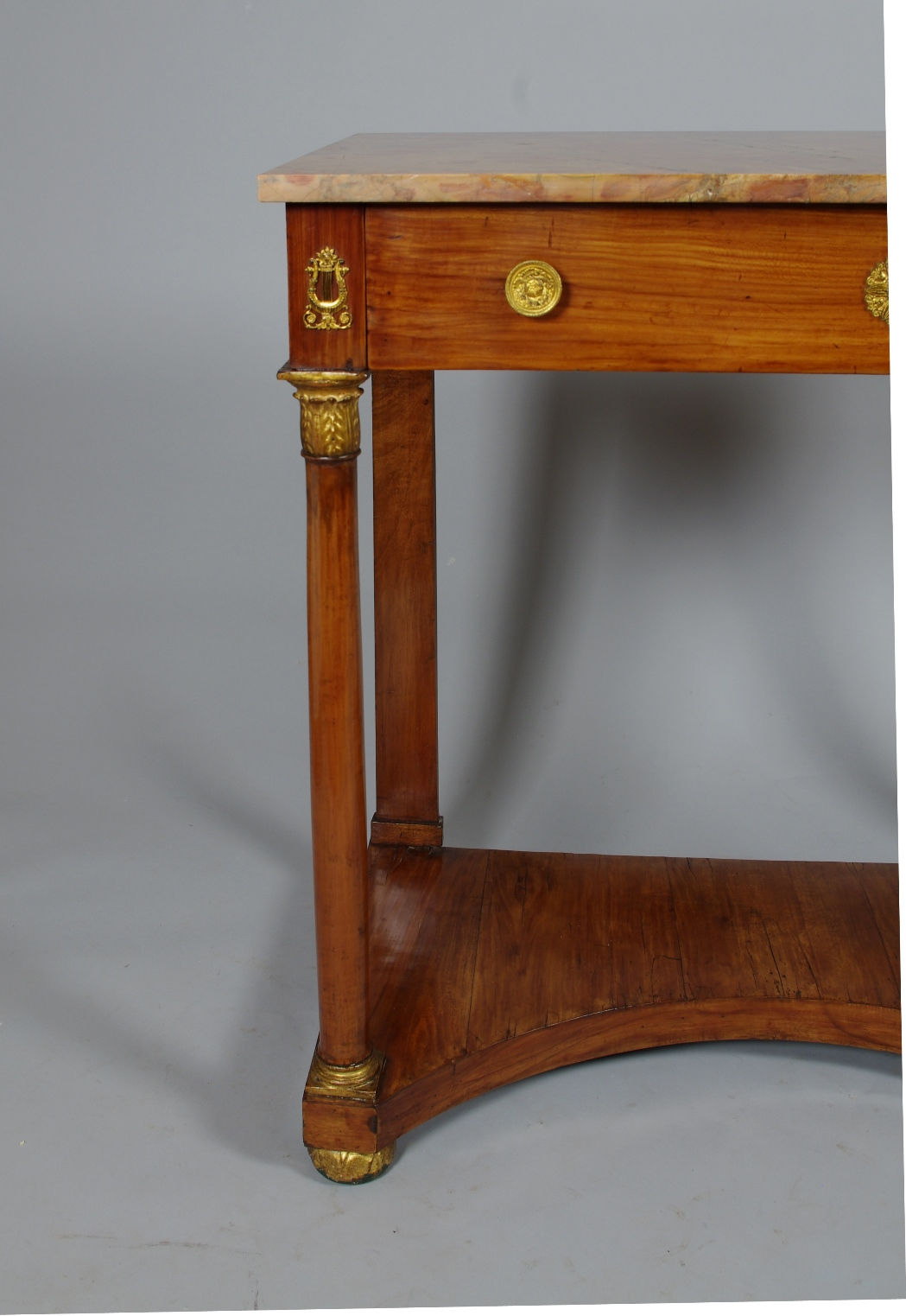 View 4: Italian Empire Cherrywood Console Table
