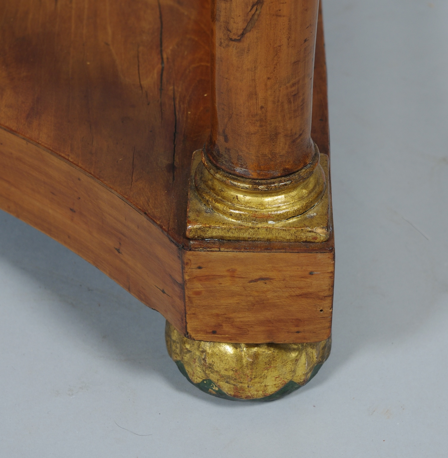 View 5: Italian Empire Cherrywood Console Table