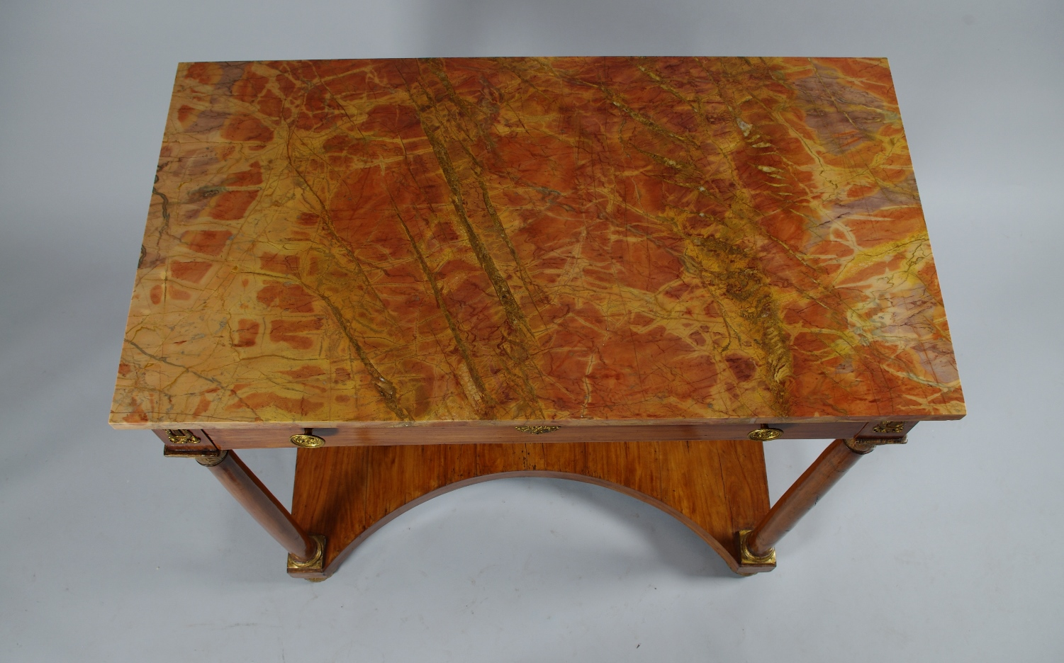 View 6: Italian Empire Cherrywood Console Table