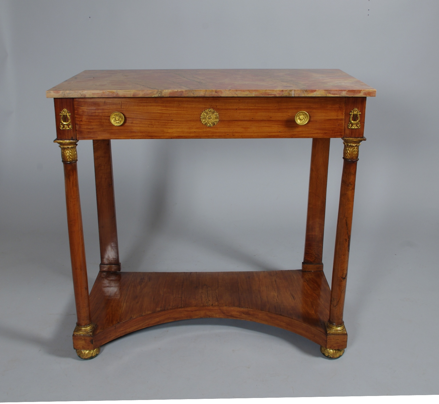 View 7: Italian Empire Cherrywood Console Table