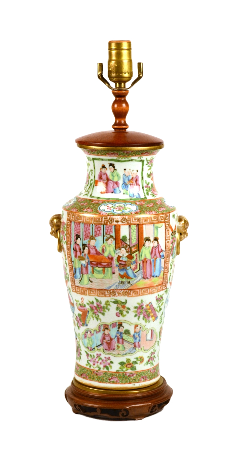 Chinese Export Lamp