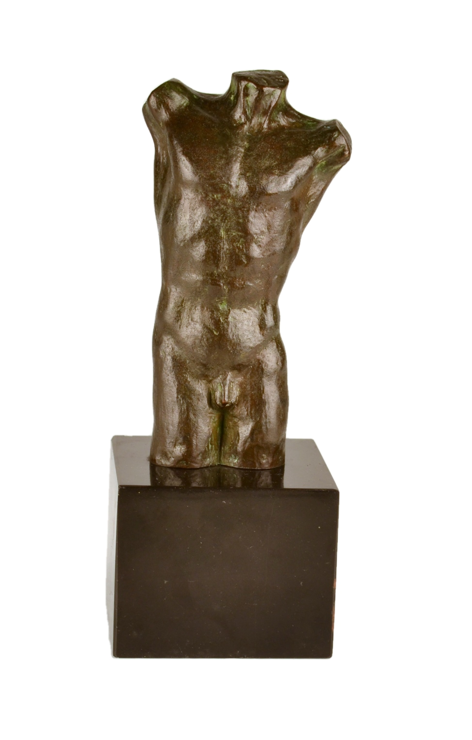 Bronze Torso of a Nude Male