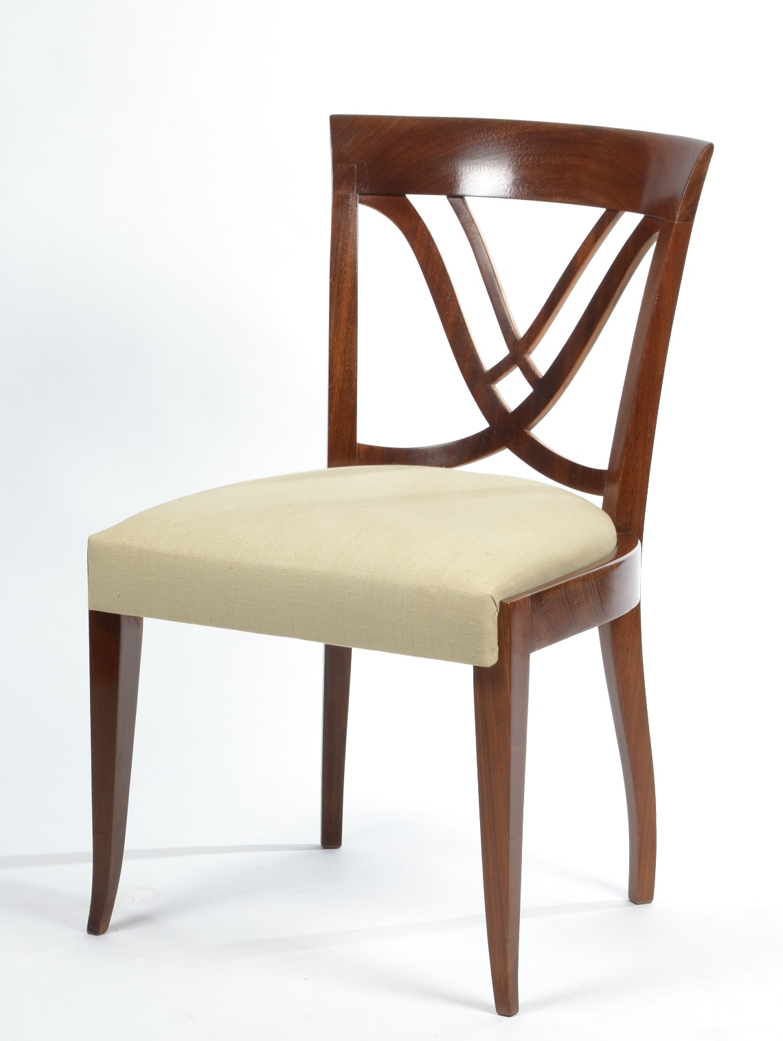 View 3: Set of Six Art Deco Dining Chairs