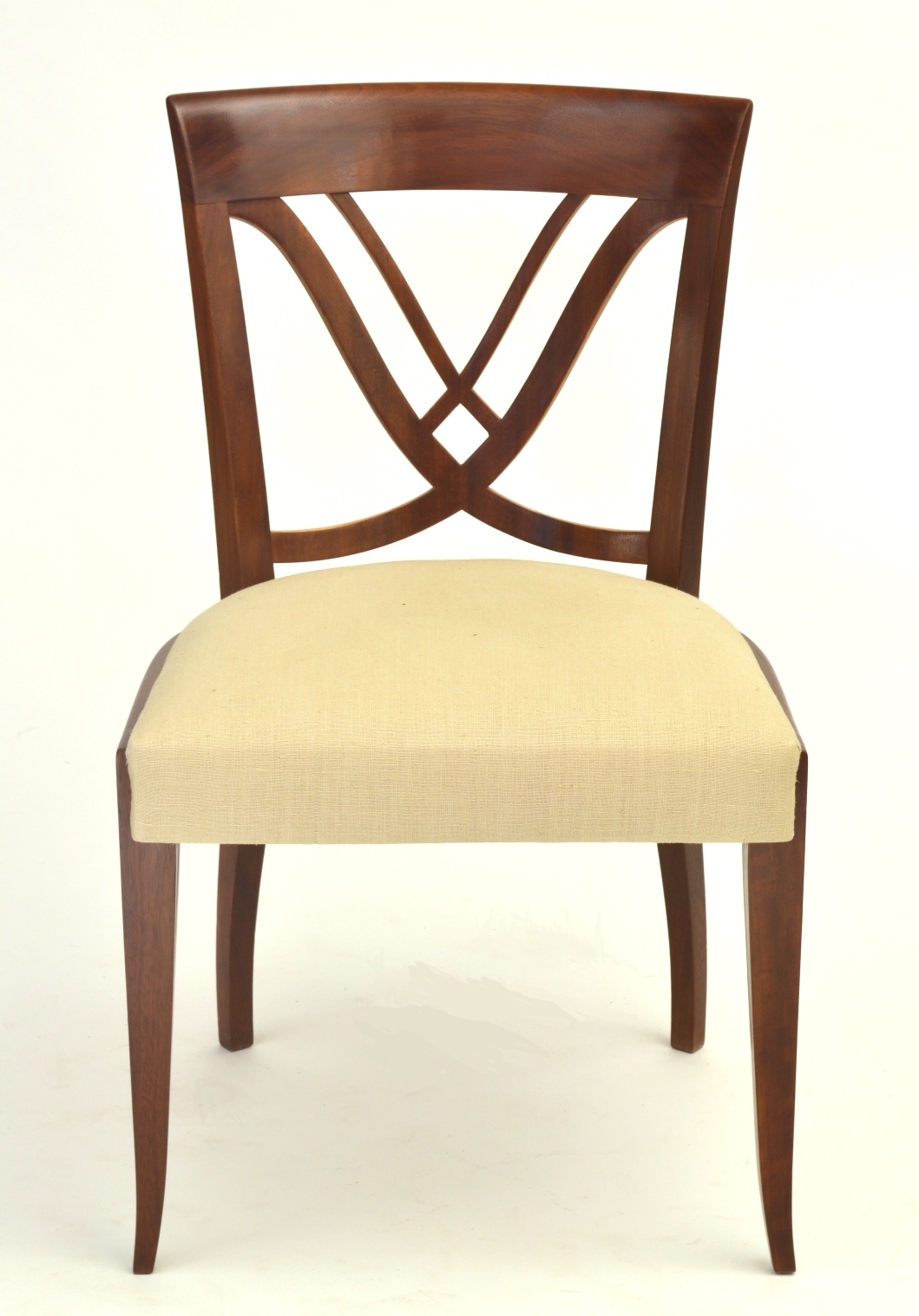 View 4: Set of Six Art Deco Dining Chairs