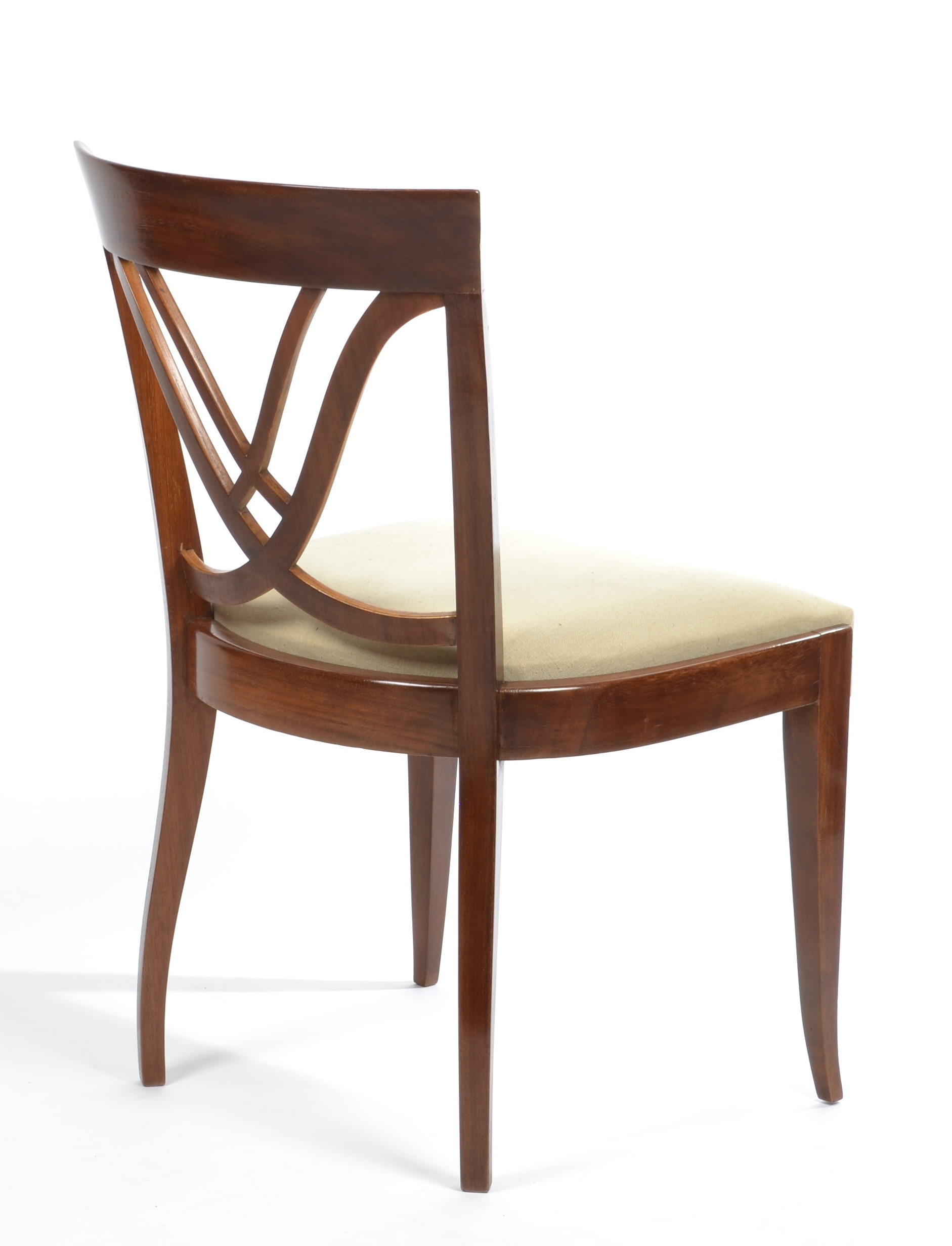 View 8: Set of Six Art Deco Dining Chairs