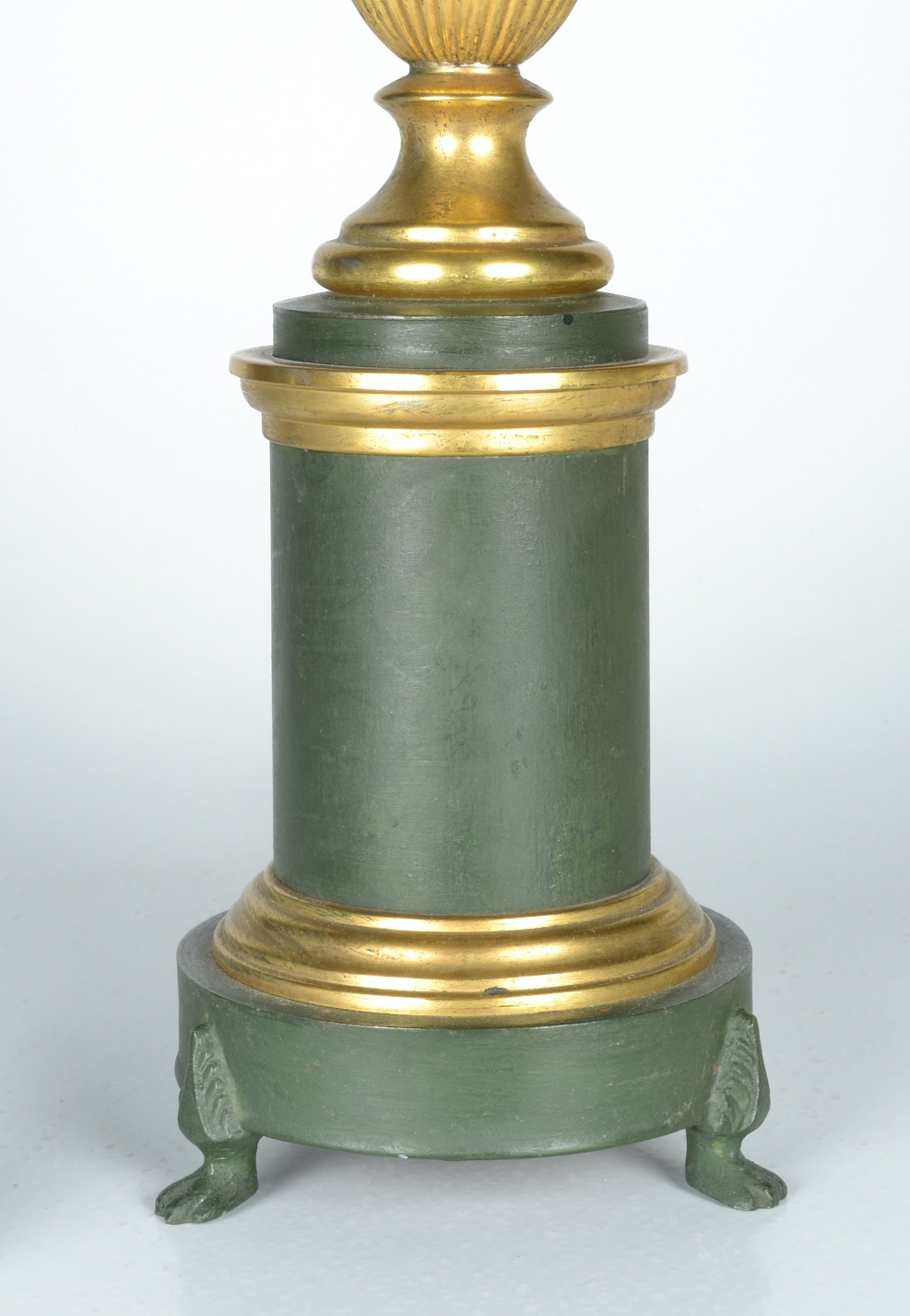 View 3: Green Tole Lamp