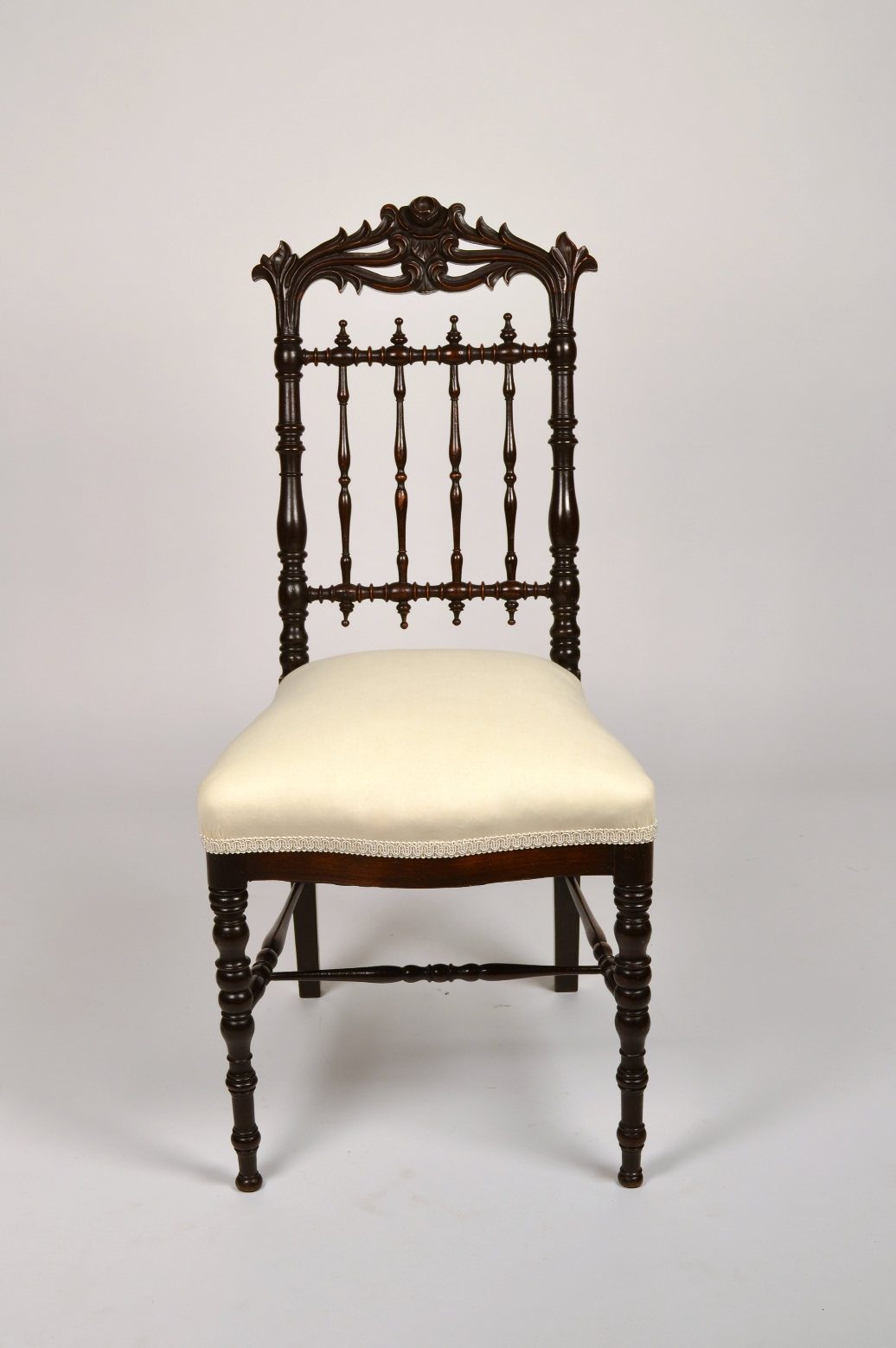 View 3: Fine Pair of Victorian Rosewood Side Chairs