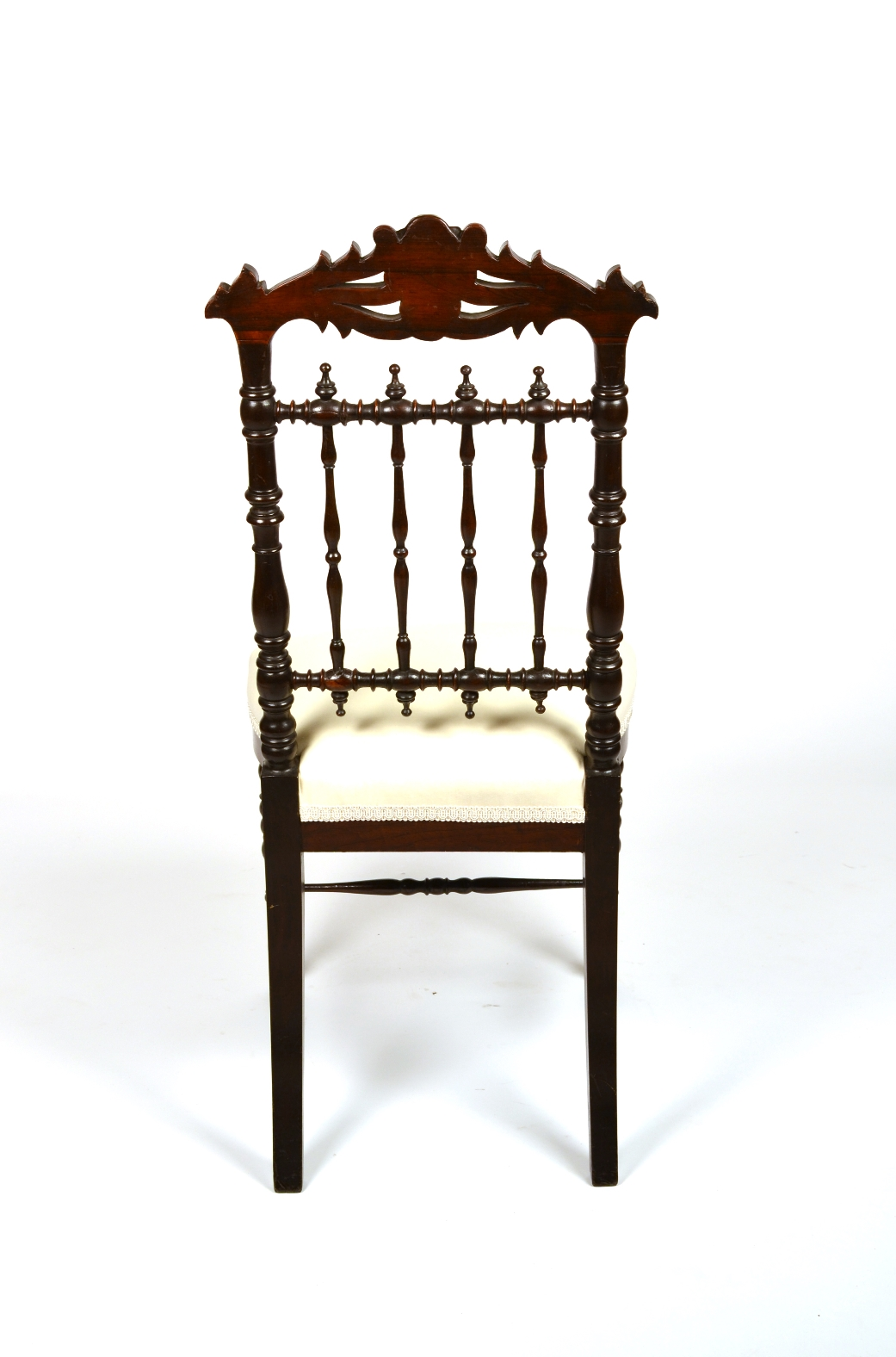 View 4: Fine Pair of Victorian Rosewood Side Chairs