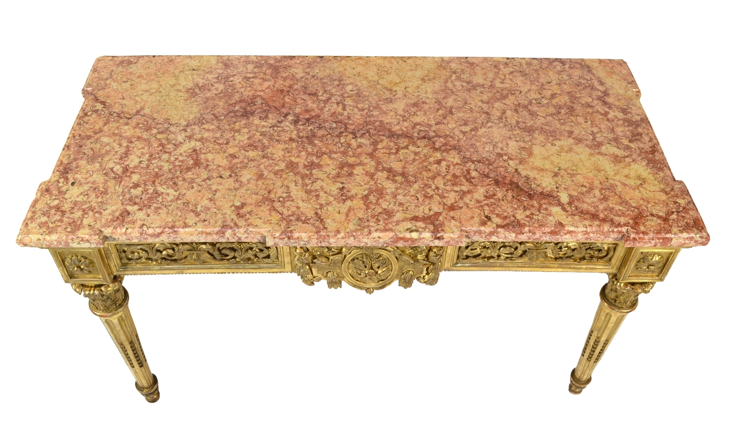 Fine Italian Carved and Giltwood Neoclassical Console Table