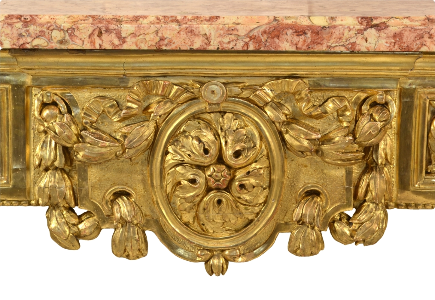 View 6: Fine Italian Carved and Giltwood Neoclassical Console Table