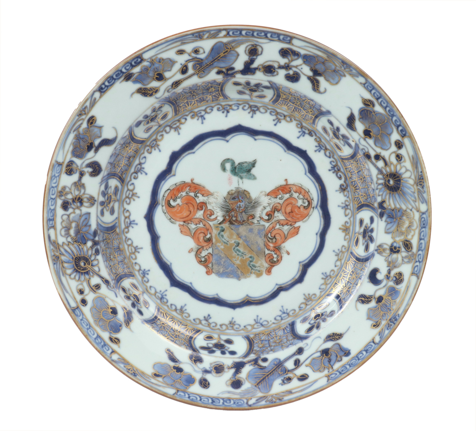 Chinese Export Armorial Plate, c. 1730