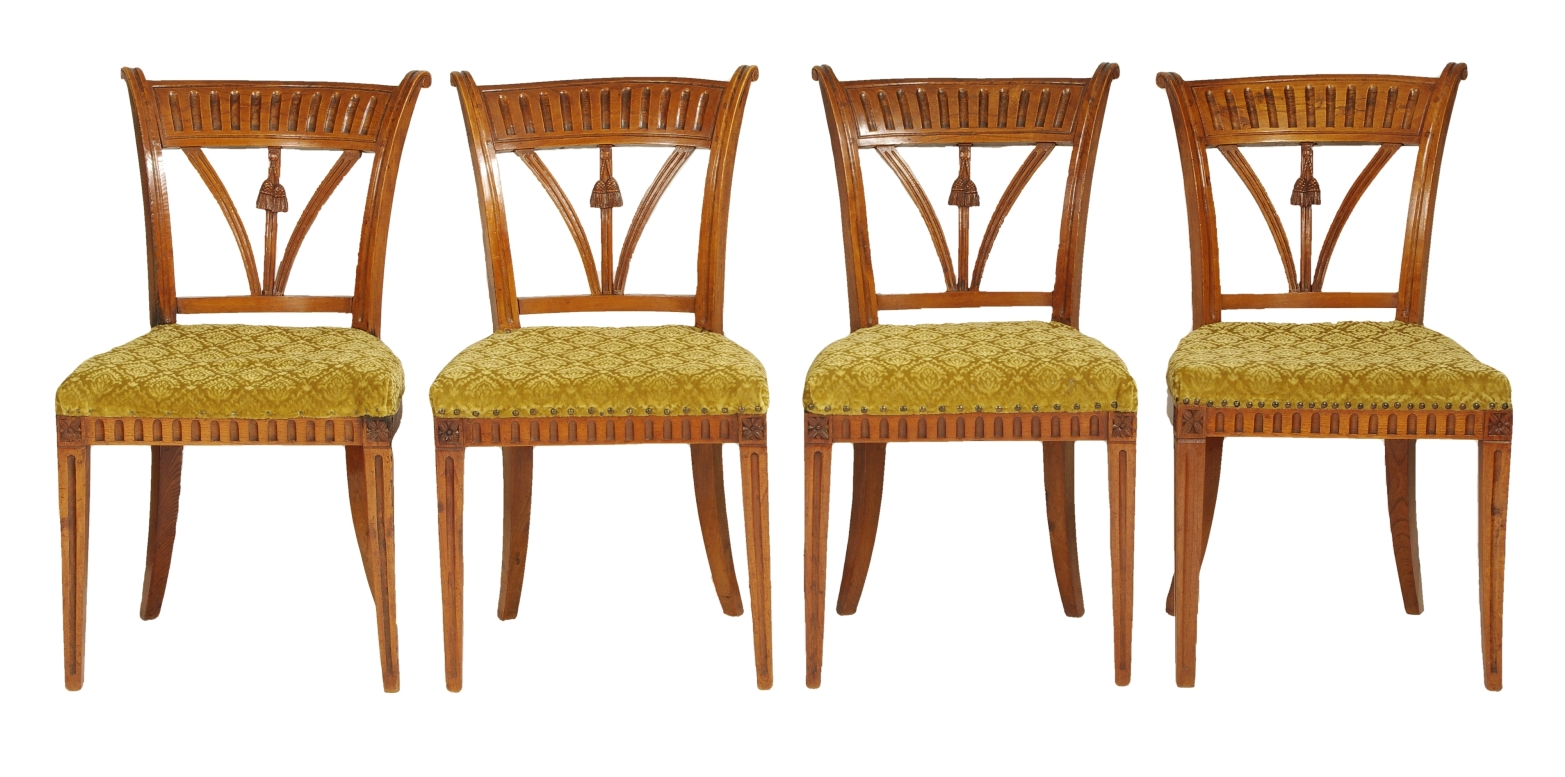 View 1: Set of Four Italian Side Chairs