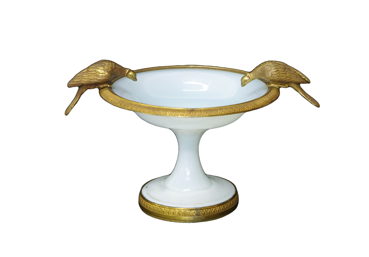 View 1: Charles X White Opaline Coupe, c. 1825