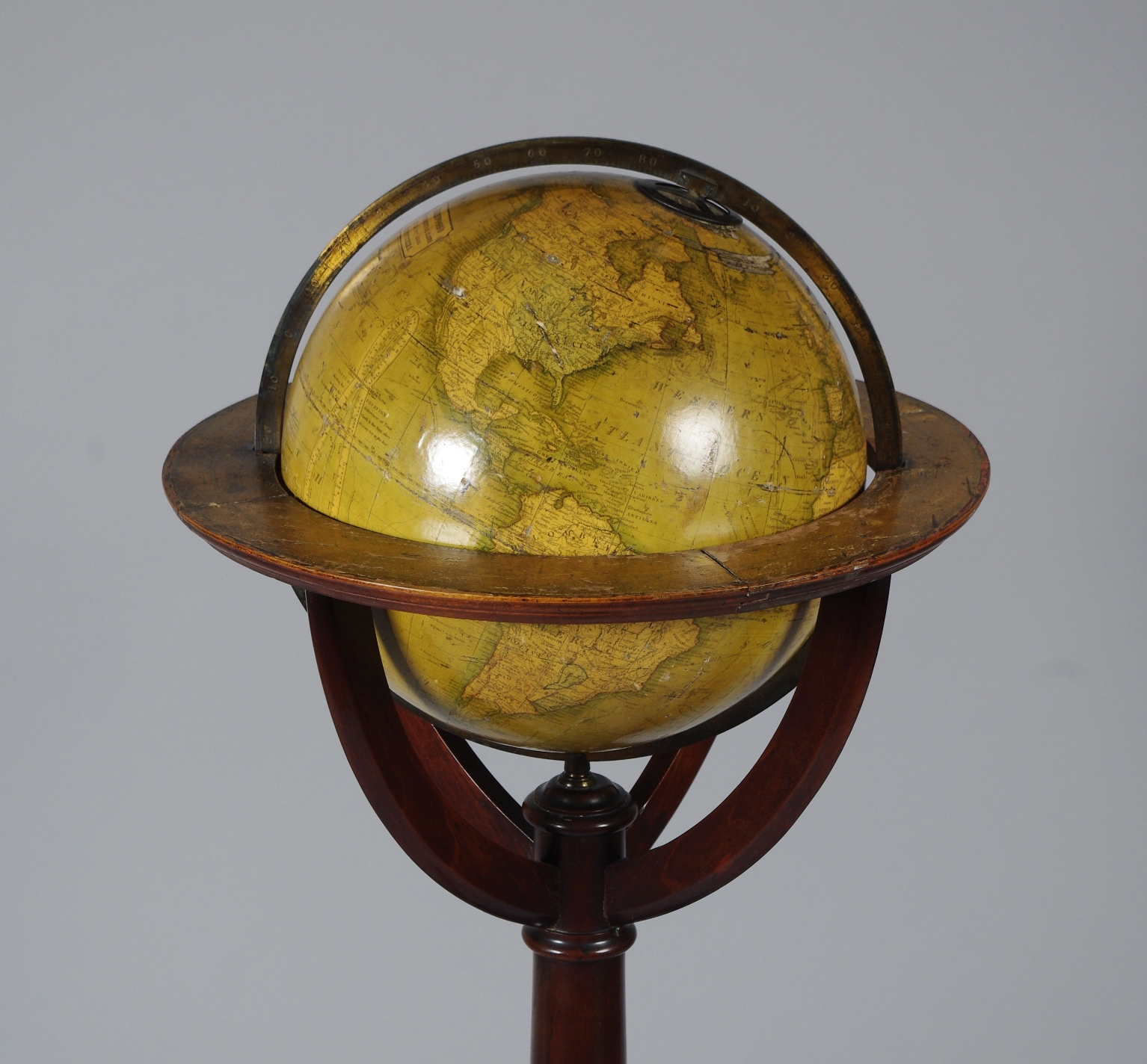 "View 2: 12"" Terrestrial Globe by Kirkwood of Edinburgh"