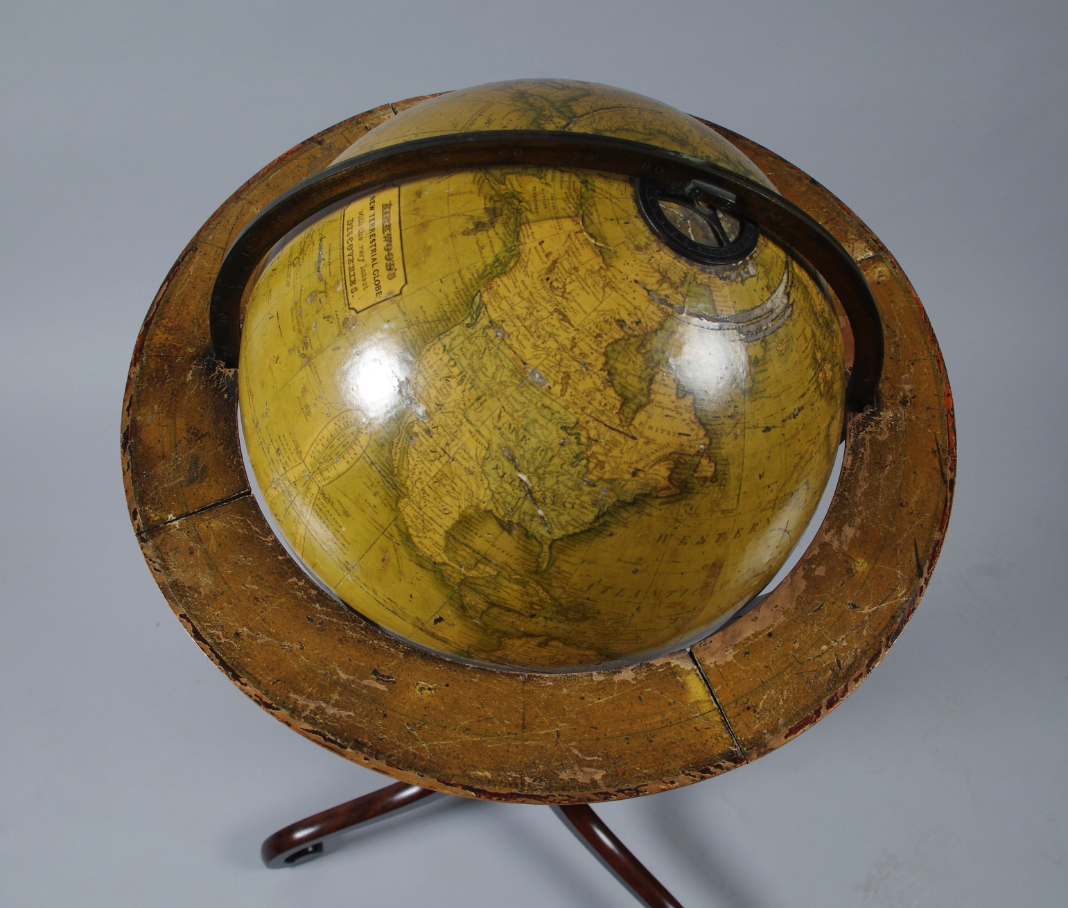 "View 3: 12"" Terrestrial Globe by Kirkwood of Edinburgh"