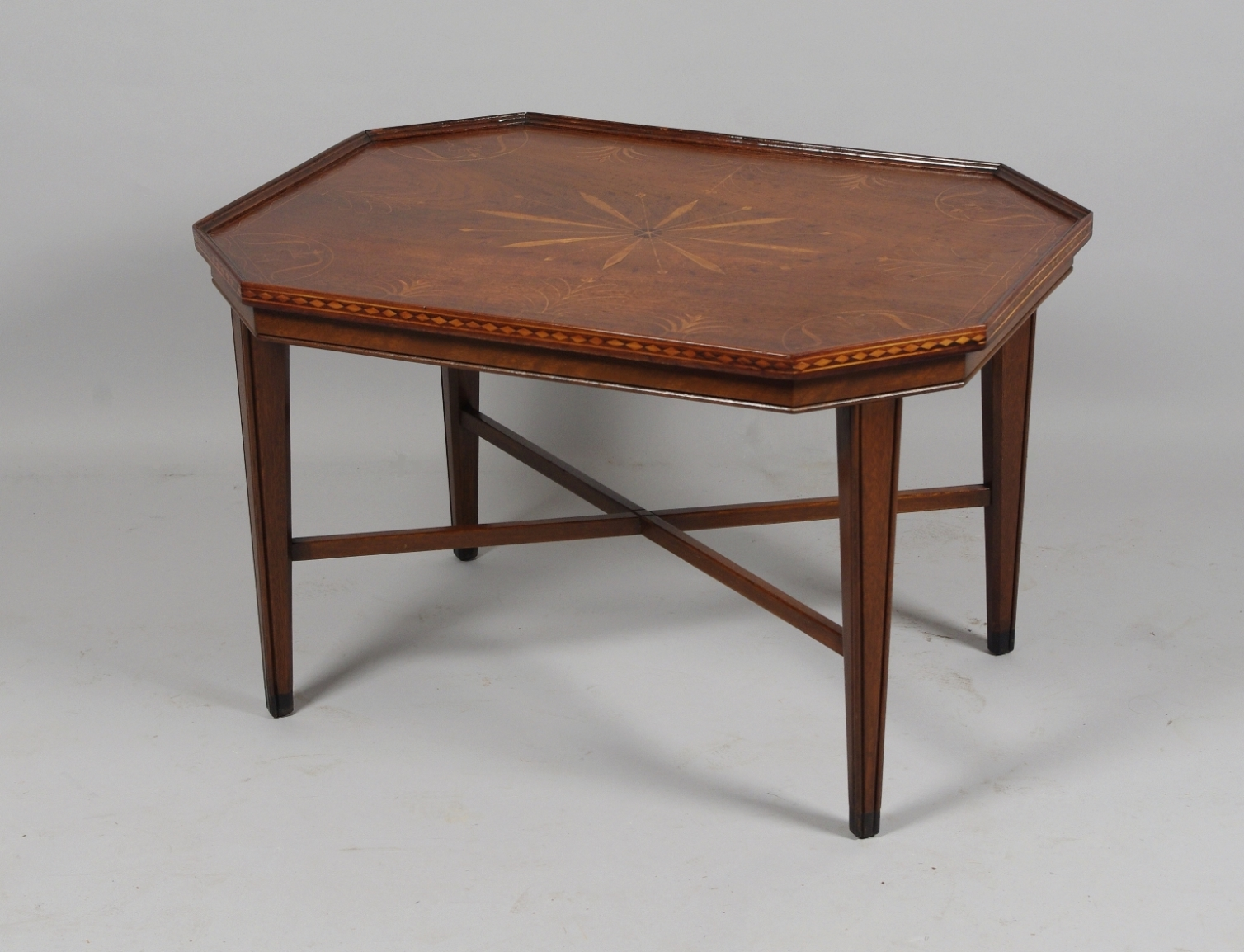Robert Morrissey Antiques Inlaid Walnut Coffee Table