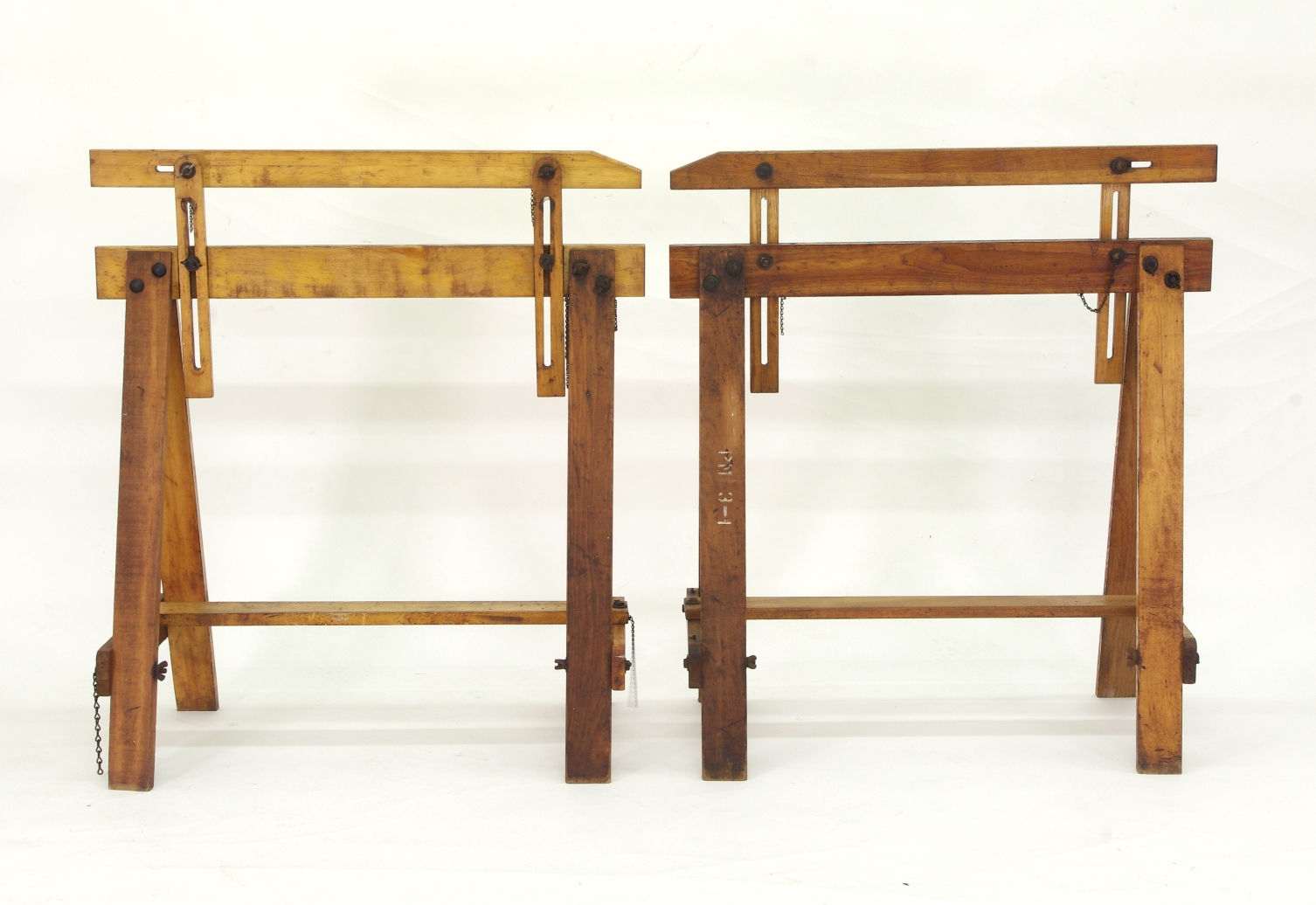 View 3: Pair of Adjustable Sawhorses c. 1920