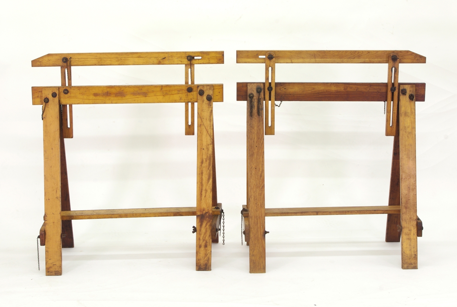 View 4: Pair of Adjustable Sawhorses c. 1920