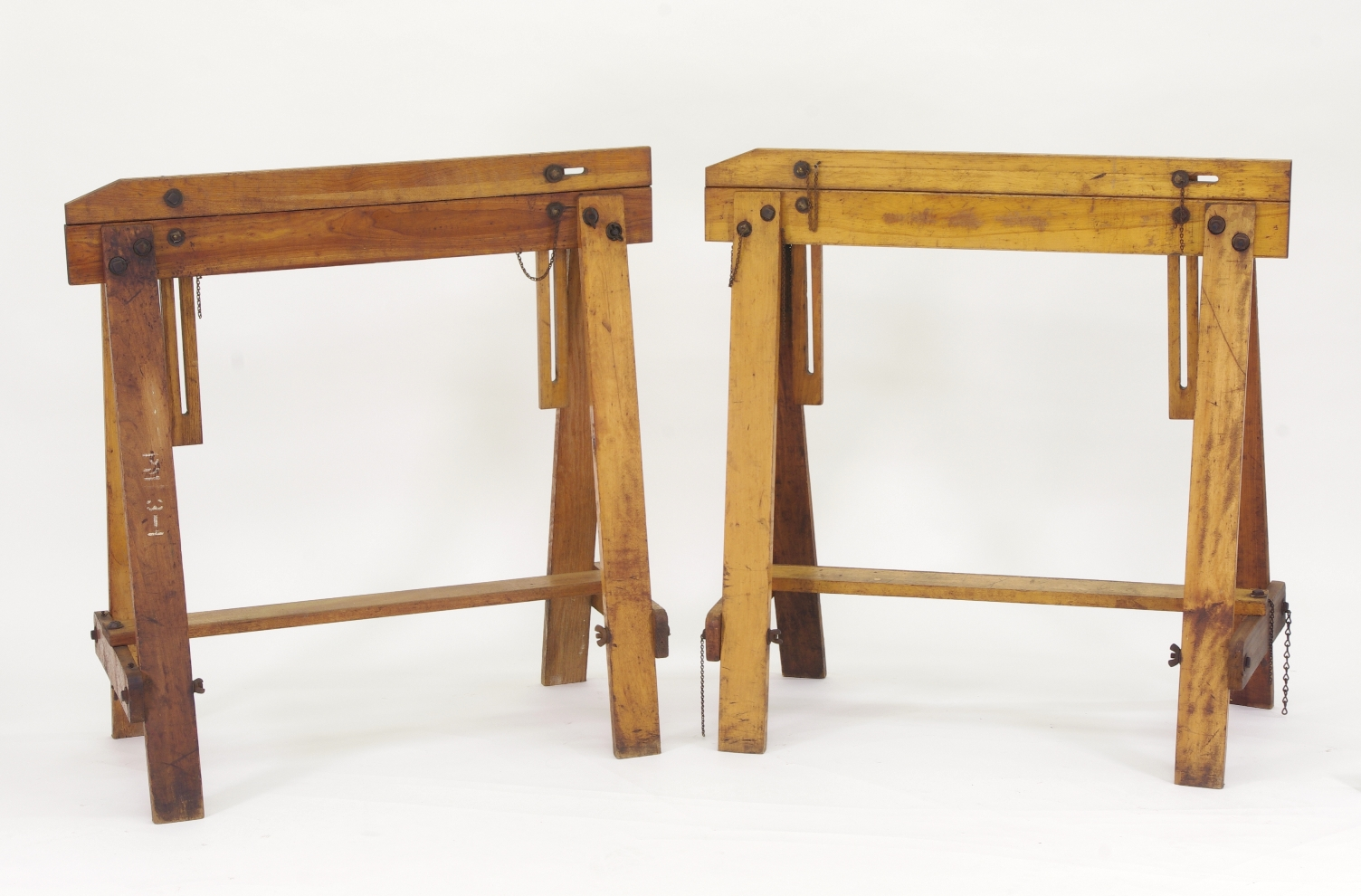 View 10: Pair of Adjustable Sawhorses c. 1920