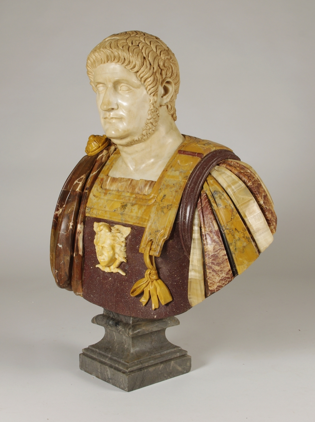 View 2: Marble and Porphyry Bust of the Emperor Nero