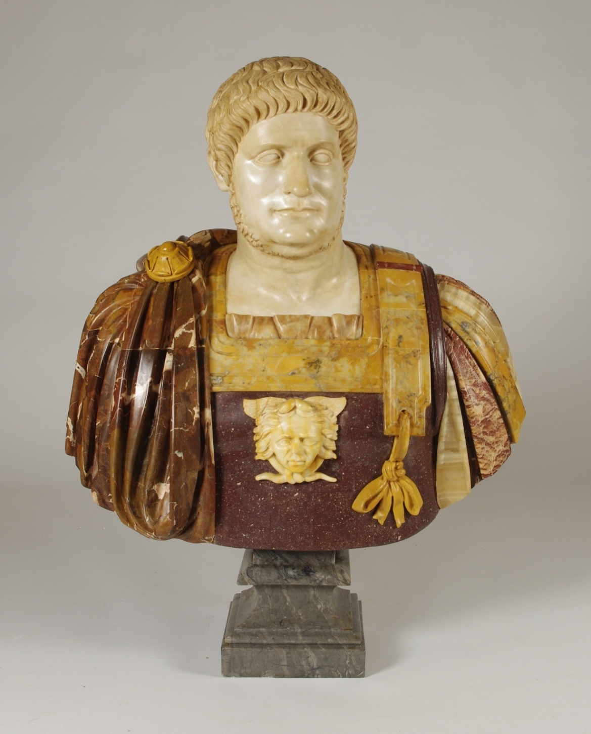 View 3: Marble and Porphyry Bust of the Emperor Nero