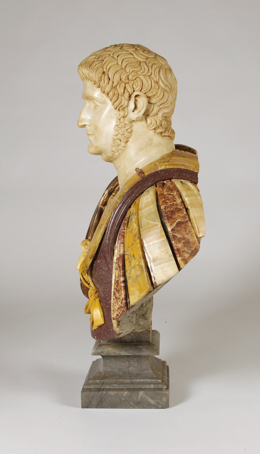 View 5: Marble and Porphyry Bust of the Emperor Nero