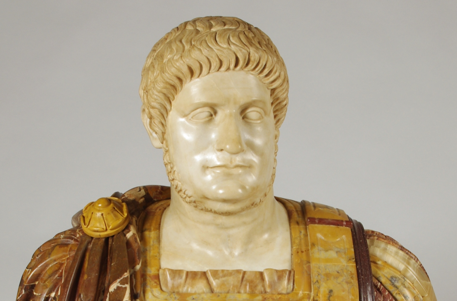 View 8: Marble and Porphyry Bust of the Emperor Nero