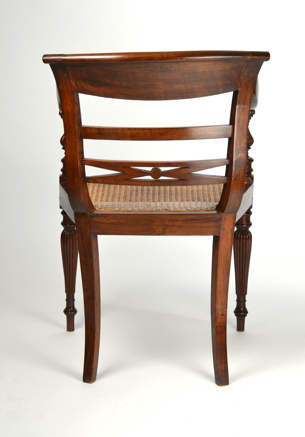 View 4: Four British Colonial Hardwood Open Armchairs