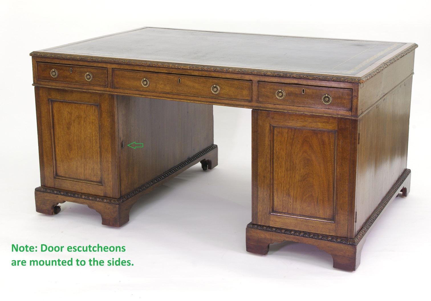 View 7: Victorian Mahogany Partners Desk, c. 1840-60