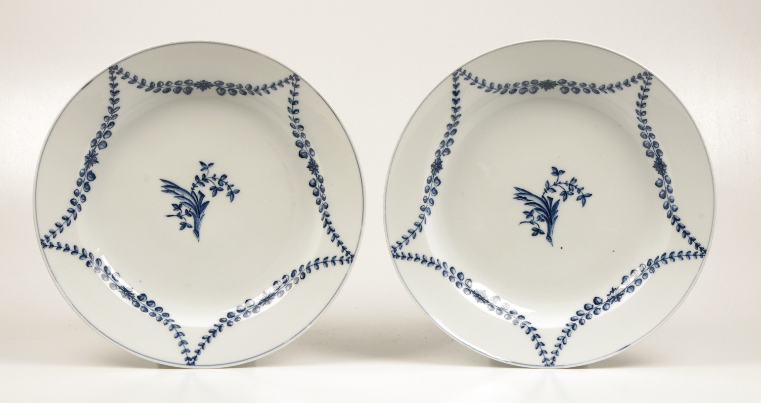 View 8: Pair of Marcolini Meissen Blue and White Chargers