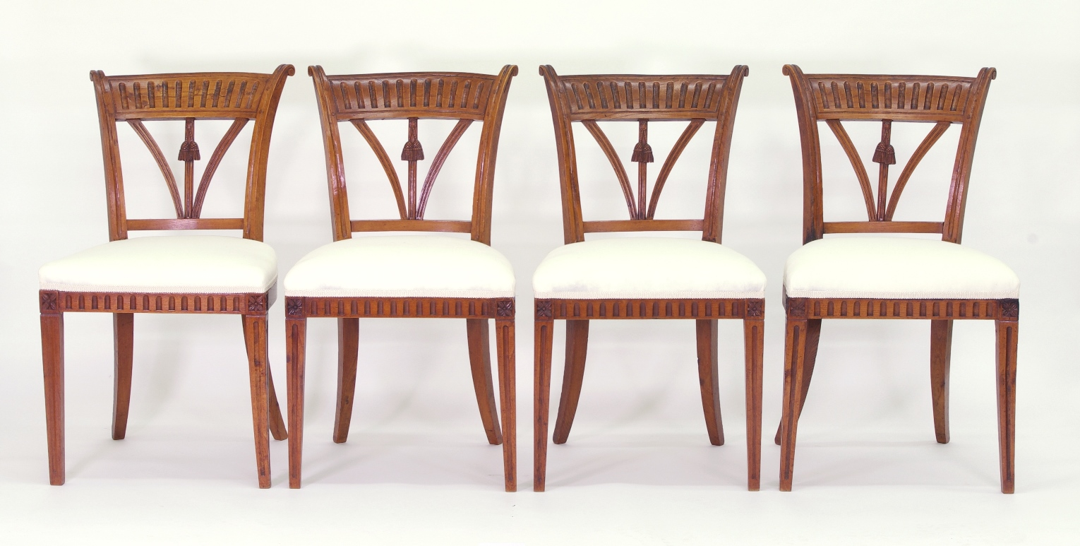 View 10: Set of Four Italian Side Chairs, c. 1800