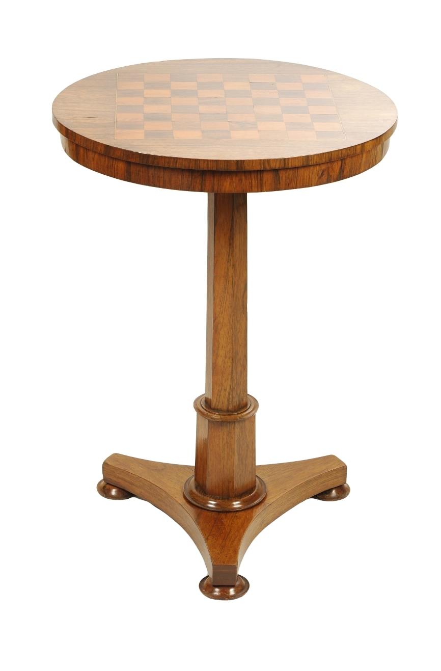 View 1: Regency Rosewood Small Games Table