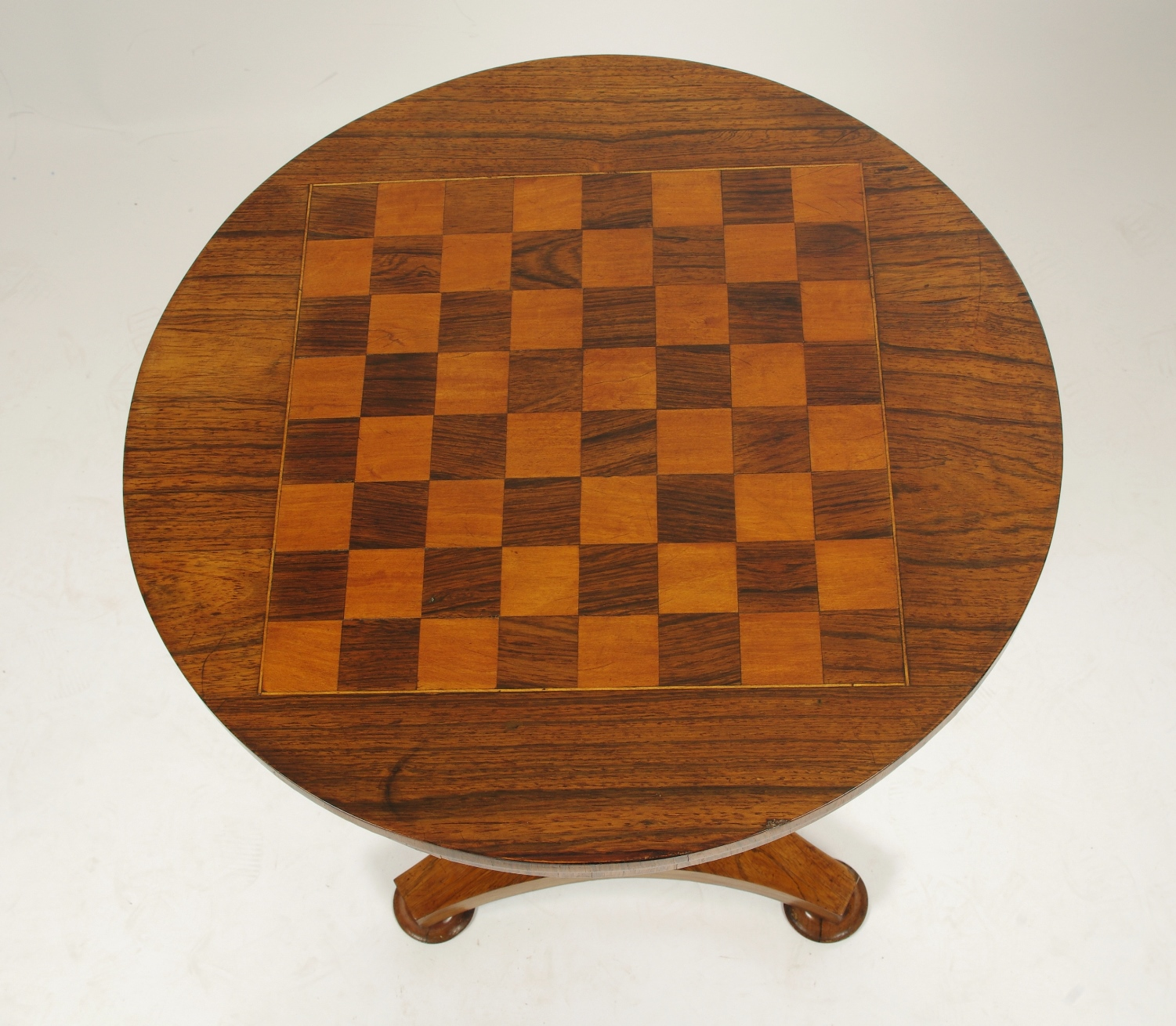 View 2: Regency Rosewood Small Games Table