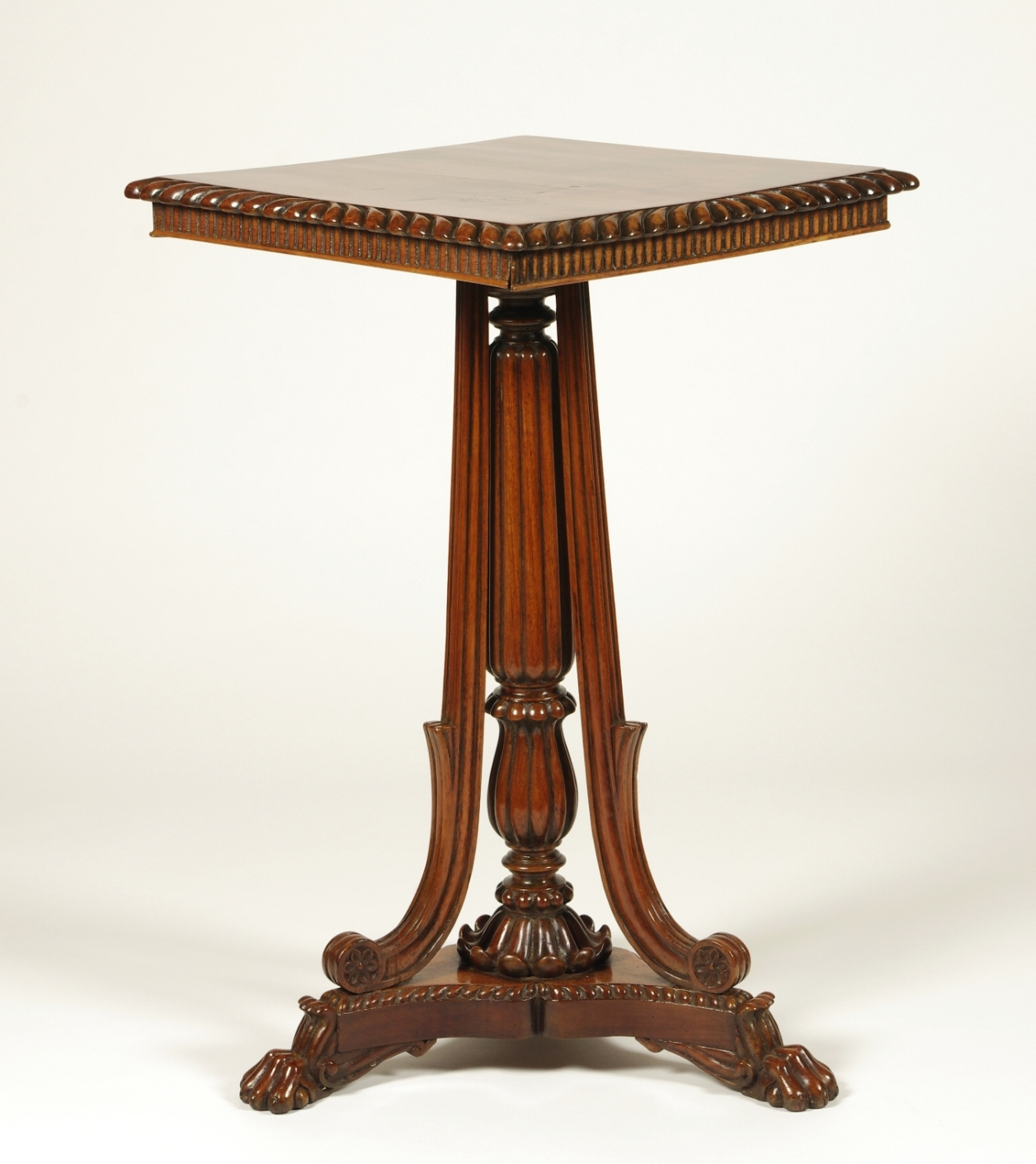 British Colonial Padouk Wood Side Table