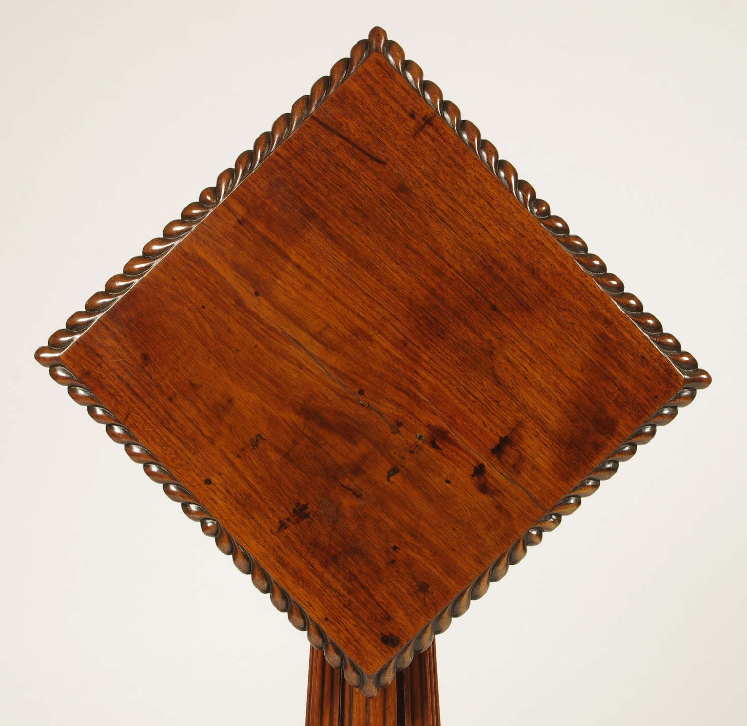 View 3: British Colonial Padouk Wood Side Table