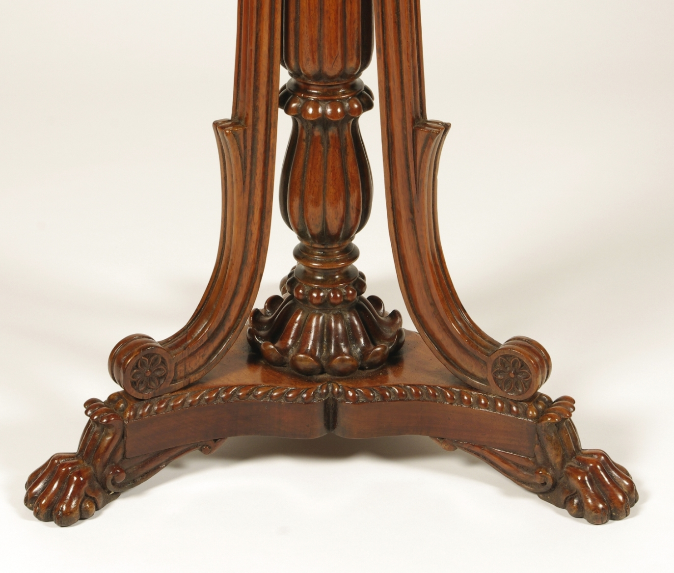 View 4: British Colonial Padouk Wood Side Table