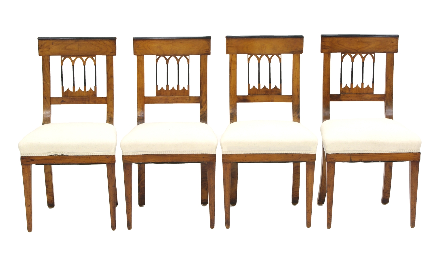 Set of Four Biedermeier Side Chairs, c. 1810-20