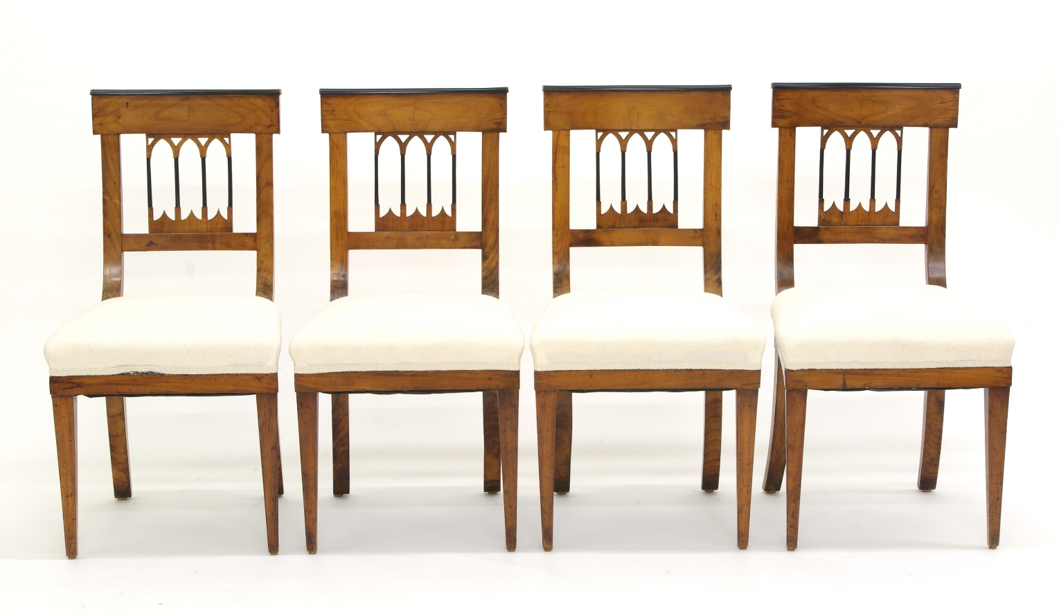 View 9: Set of Four Biedermeier Side Chairs, c. 1810-20