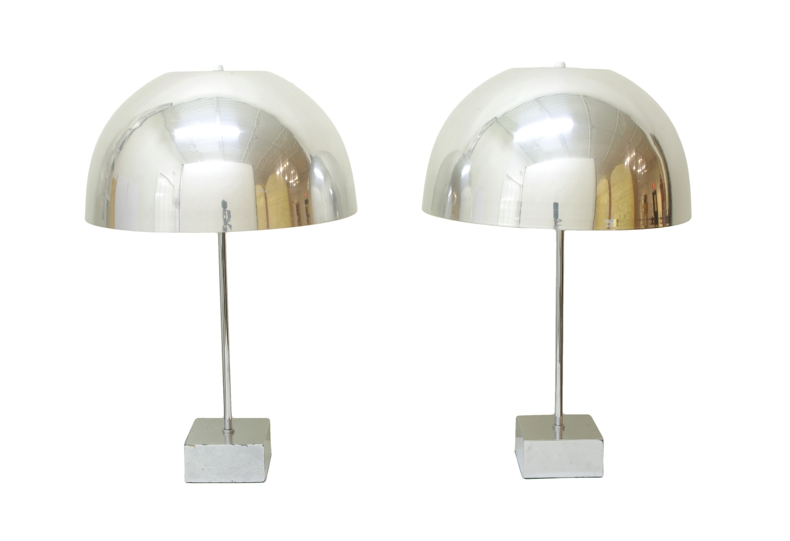 View 1: Pair of Mushroom Lamps by Paul Mayen, 1960's
