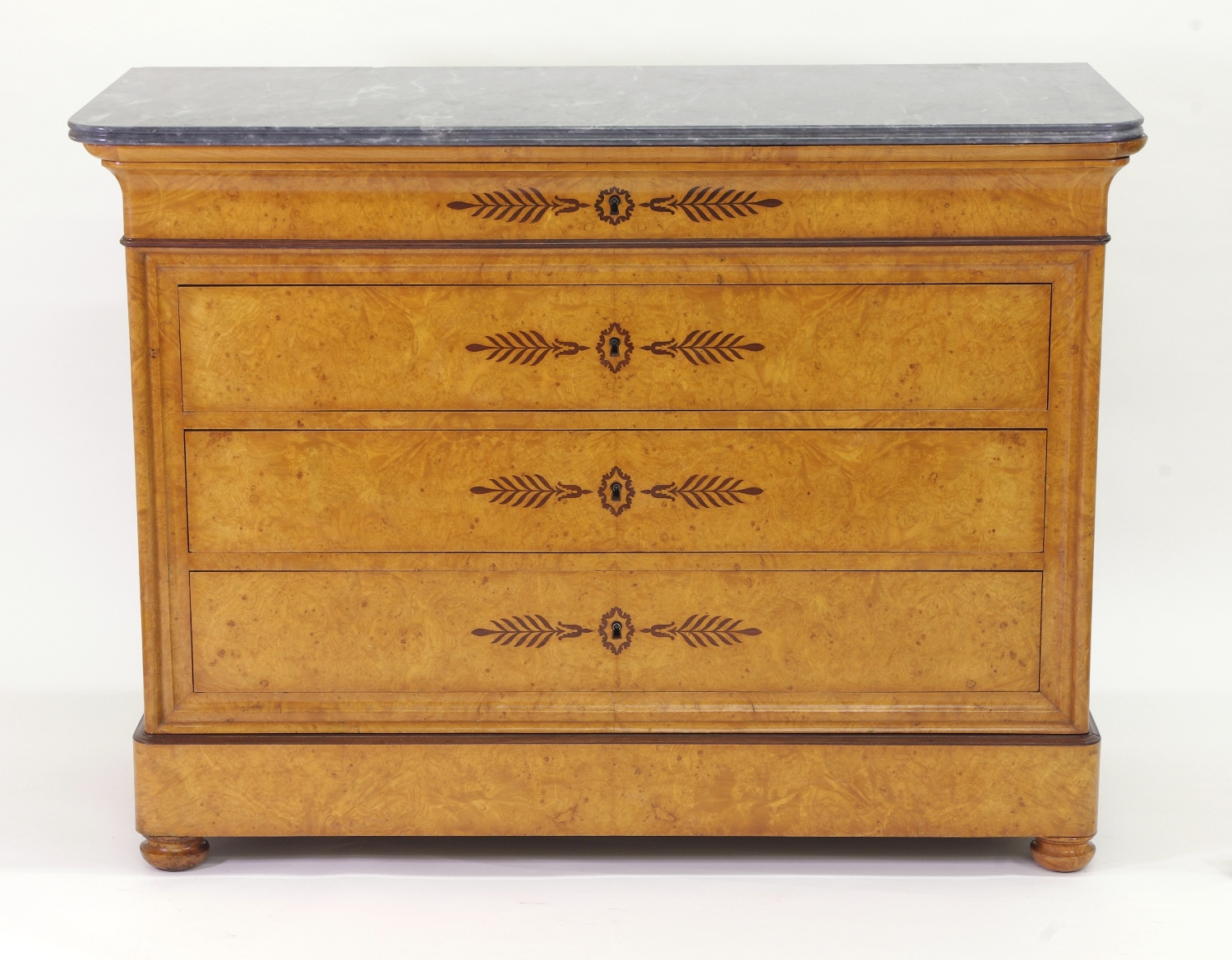 View 9: French Restauration Burr Ash Chest of Drawers, c. 1825