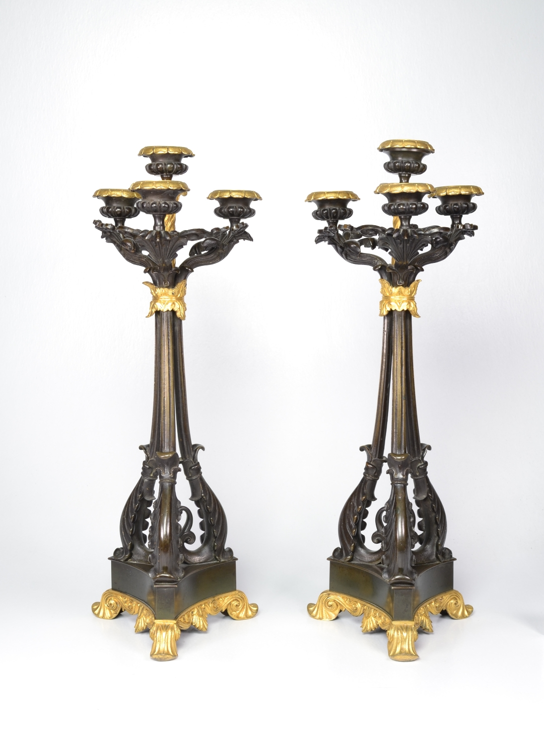 View 2: Pair of Louis-Philippe Bronze and Ormolu Candelabra, c. 1840